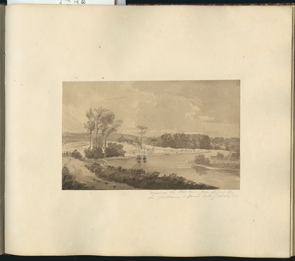 Library and Archives Canada, MIKAN 2887613: View on the Sorel River from the Gate of the Government House, looking upwards ca. 1821-1824