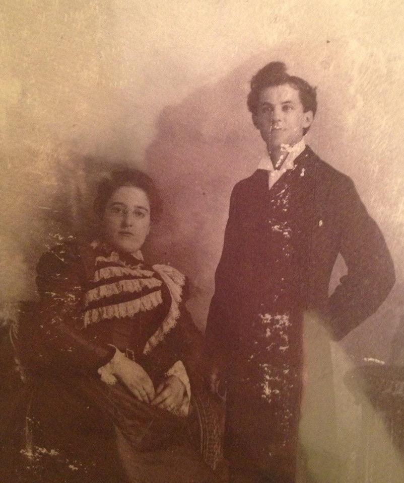 Évélina Tourville et Albert Bissonnette