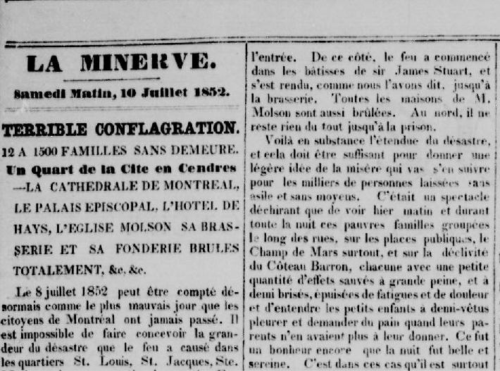 la minerve 10 juillet 1852